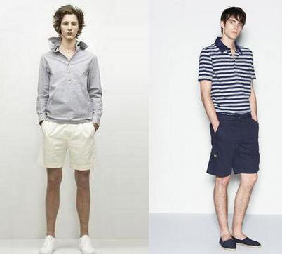 今夏流行的短裤型男造型